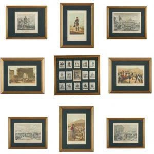 Комплект гравюр хромолитографий посвященных войне 1812 г.